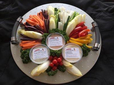 Gemüsedip-Platte