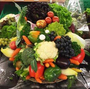 Gemüse-Früchtekorb gemischt (Grösse nach Wahl)